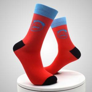 Comfortable Wearing Polyester Print Breathable Sublimation Custom Men Sock Digital Printed Socks