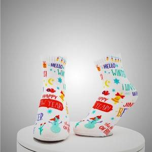 Compass Pattern Digital Printed Socks