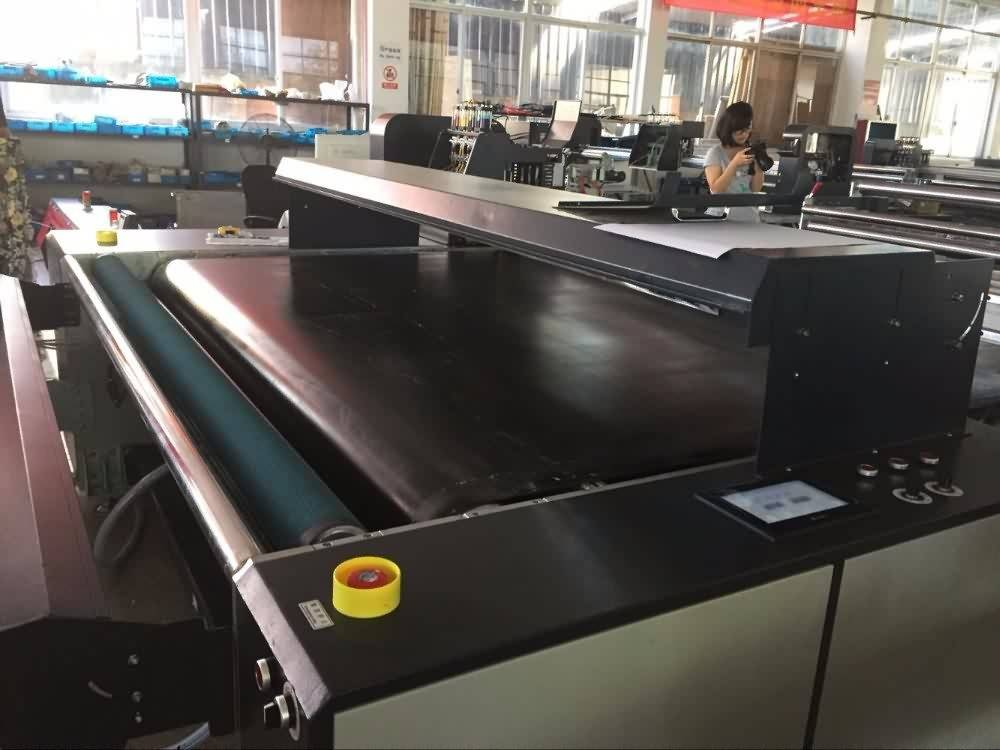 Good quality 100% Digital Direct printing Textile Printer with belt system to Brasilia Factory