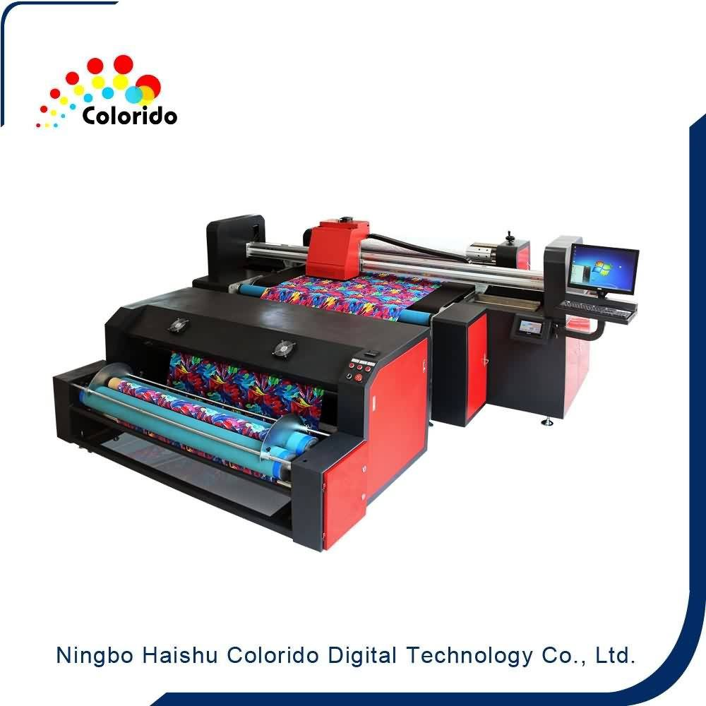 13 Years Factory Flatbed Digital Roll Meter Printer Textile fabric printer to Dubai Factories