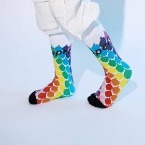Colorful Over The Calf Basketball Mens Socks Custom Sports