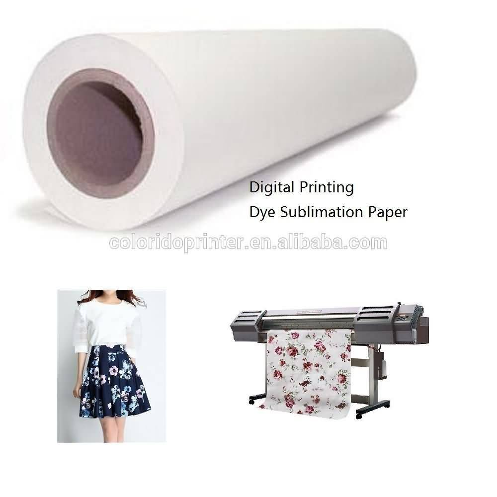 China Gold Supplier for quick dry 50~100gsm heat sublimation transfer paper for Kenya Importers