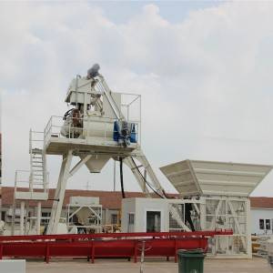 40m3/h Mobile concrete batching plant MBP10