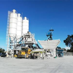 China wholesale Vertical Shaft Mixer - Mobile concrete batching plant MBT08 – CO-NELE Machinery