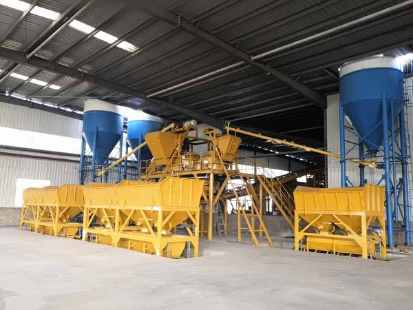 Block brick Ready concrete mixing plant in America
