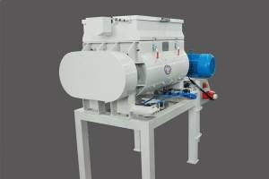 Laboratory twin shaft concrete mixer