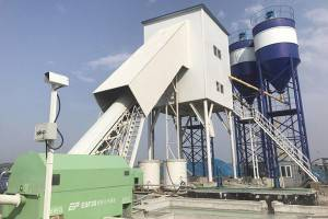HZN90 stationary ready concrete batching plants