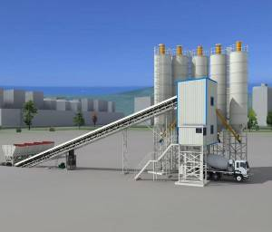 Factory Promotes Fixed Sales of Concrete Mixing Plant