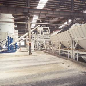 Precast wallboard mixing plant