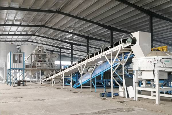 Ready mix concrete plant for wall panels