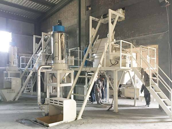CMP750 planetary concrete mixer for refractory brick in Germany