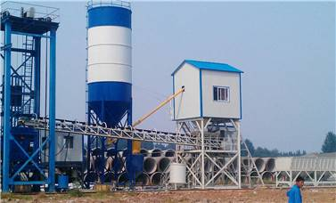 Cement pipe mixing plant
