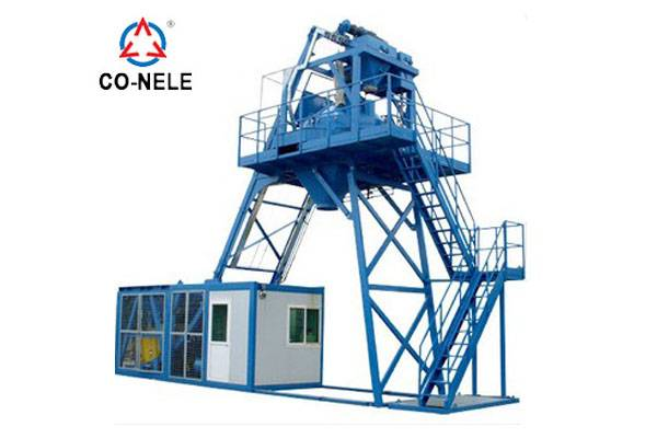 30m3/h Mobile concrete batching plant MBP08 Featured Image