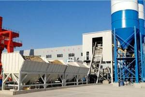 ready mixed concrete plant with planetary concrete mixer