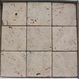 CM523 Travertine Tumbled Natural 100×100
