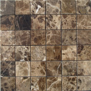 CM501  Mosaic  Description Dark Emperador 49×49 Polished (Pack of 4) 305x305x8