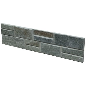 CW801 Green Cleft Stacked Stone