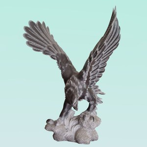CC254 Limestone Eagle Sculpture