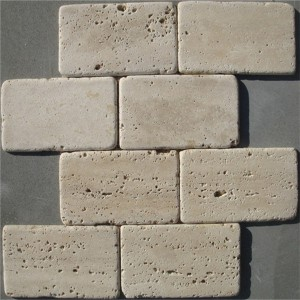 CM532 Mosaic  Travertine 76×152 tumbled (Pack of 4) 310x310x10