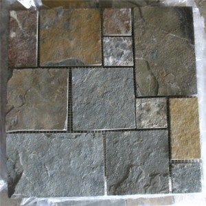 CM510  Mosaic  Cottage Slate Ashlar Large (Pack of 4) 305x305x10