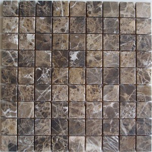 CM502  Mosaic  Dark Emperador 30×30 Tumbled (Pack of 4) 305x305x8