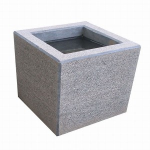 CL011 Blue Limestone Pot Hammered