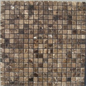 CM503  Mosaic  Dark Emperador 15×15 Polished (Pack of 4) 305x305x8