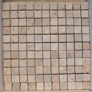 CM524  Mosaic  Travertine 25×25 tumbled (Pack of 4) 305x305x10