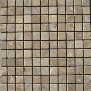 CM504 Mosaic  Light Emperador 25×25 Tumbled (Pack Of 4) 305x305x8