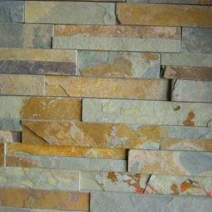 CW737 Rusty Cleft Stacked Stone