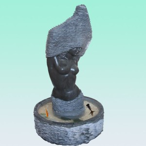 CC212 Limestone Bust Fountain
