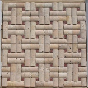 CM506  Boned Mosaic Travertine