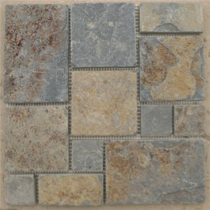 CM511  Mosaic  Cottage Slate Ashlar Tumbled (Pack of 4) 305x305x10