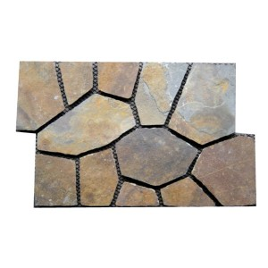 CV072  Rusty FlagMat Rectangular Shape Random Paving