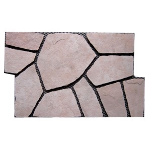 CV071 Pink FlagMat Rectangular Shape Random Paving
