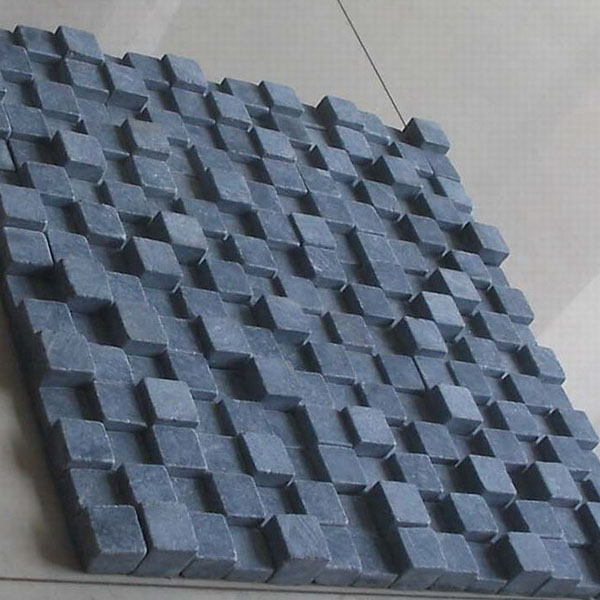 CL008 Blue Limestone Tumble 3d Mosaic Featured Image