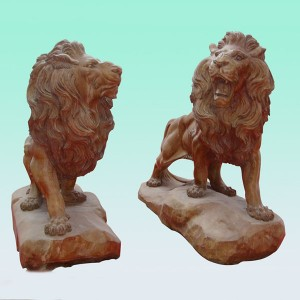 CC239 Marble Lion Sculpture