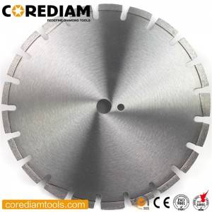 Laser welded asphalt cutting saw blade