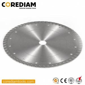 Sinter hot-pressed turbo saw blade