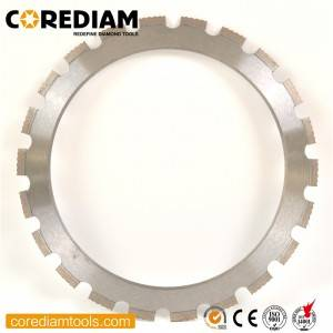 Laser welded ring saw blade
