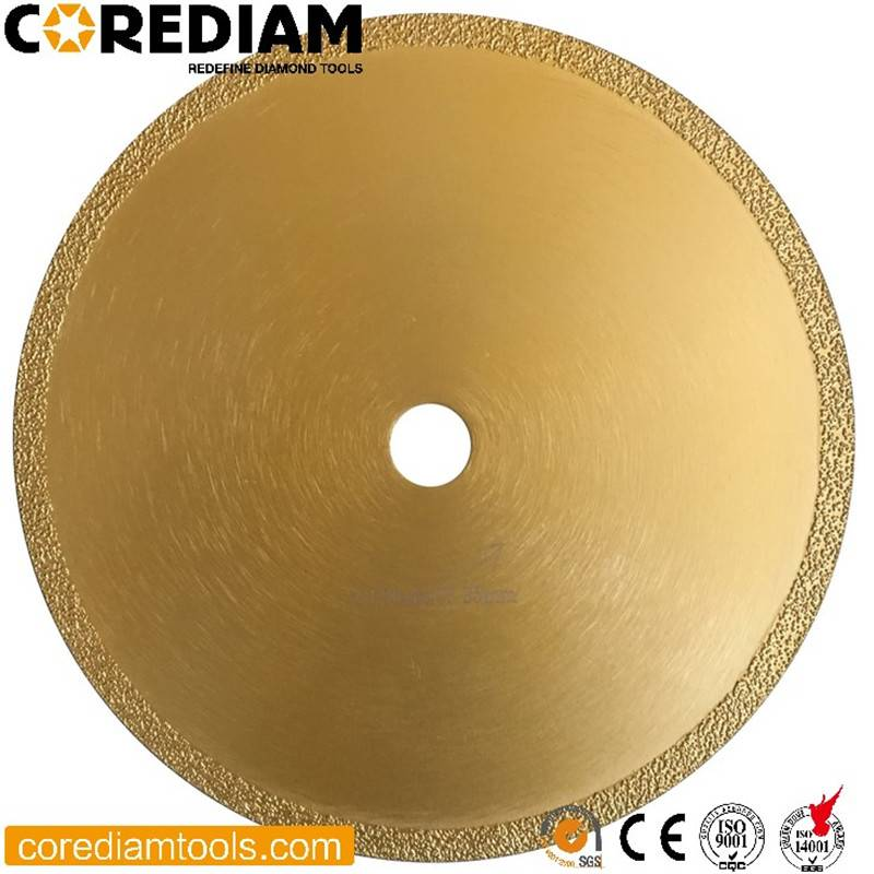 Diamond Vacuum Brazed Stone Blade with Continuous Rim Featured Image