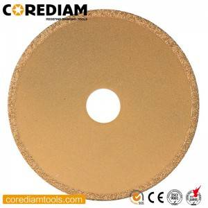 Diamond Vacuum Brazed Stone Blade with Continuous Rim