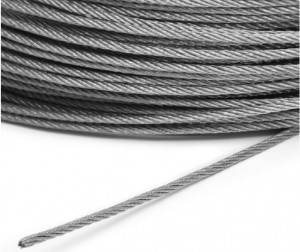 304 Grade 7 x 7 Stainless Steel Cable Wire Rope 3mm Dia