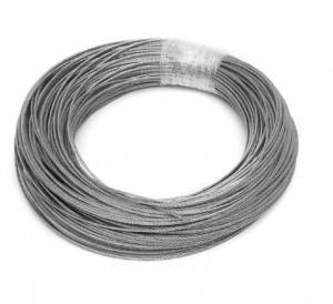 1.5mm Stainless Steel Wire Rope Tensile Diameter Structure