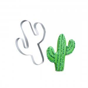 cactus shaped stainless steel cookie cutter