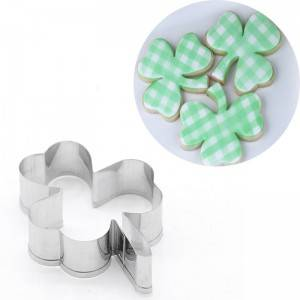 stainless steel cookie cutter clover