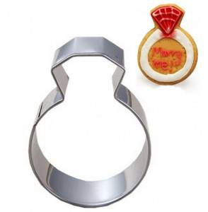 diamond ring cake cookie cutter