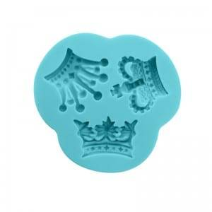 Crown chocolate fondant silicone mold CM-4427