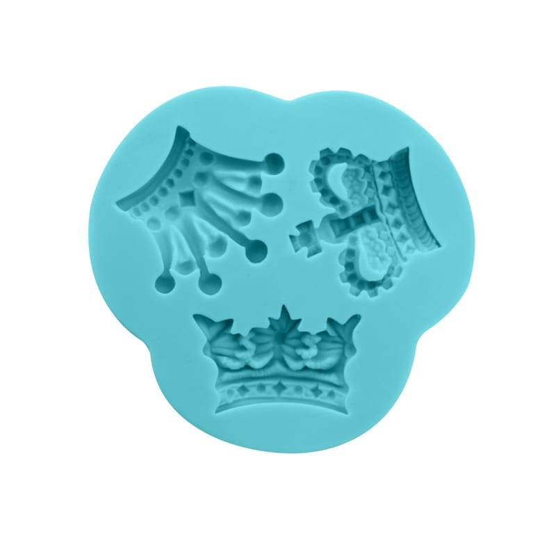 Crown chocolate fondant silicone mold CM-4427 Featured Image