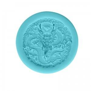 Dragon and phoenix chocolate fondant silicone mold CM-4431